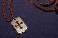 Leather Celtic Cross Necklace