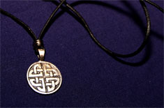 Celtic Knot Medallion Necklace
